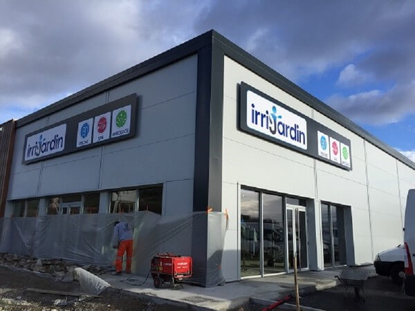 Climatisation du magasin IRRIJARDIN, enseigne nationale